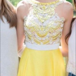 Yellow Sequin Sherri Hill Dress